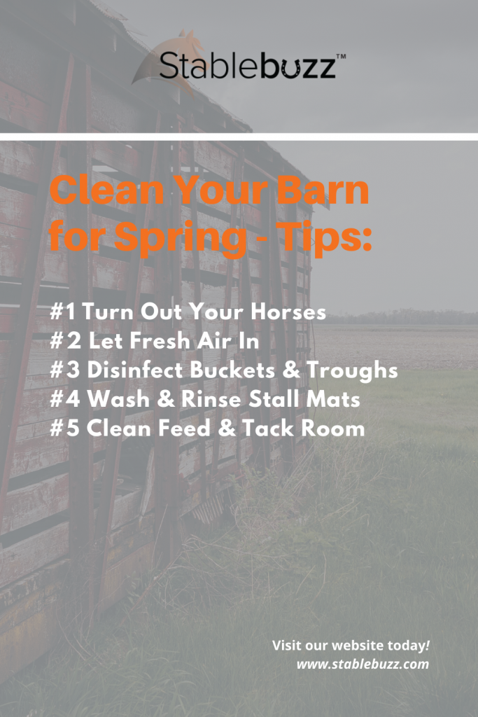 spring cleaning tips for your barn